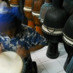 At Drum factory Bali of Indonesia in August