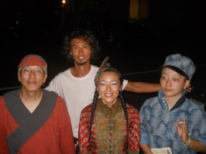 In front of Bar Old in Tomakomai Hokkaido of North Japan in August.